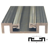 C0367B - 4ft. - Bottom Pin Guide Track (4 FOOT) -Dk.Brz.- (Horton 2000 Linear, Belt, 2001, 2003, ICU)