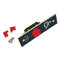 C0521-2 - Jamb Mount 1 inch RED Push Button Switch w/Press to Open & Handicap Logo on BLUE Face Plate - (Horton)
