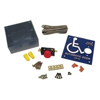 C1315-2 - 4in. SQ. Box & Handicap Logo w/1 inch RED Push Button Switch - (Horton)