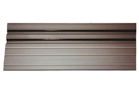 14-9016-01-04 - Threshold - Aluminum Extrusion  (4 FOOT LENGTH) Floor Track w/Vinyl - (Nabco/Gyrotech 1175)