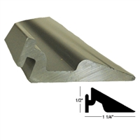 14-9017-01-04 - Threshold RAMP - Aluminum Extrusion  (4 FOOT LENGTH) - (Nabco/Gyrotech 1175)