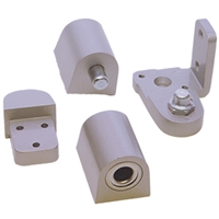 Door Controls OP14G-ALL US Aluminum Style Pivot Set - Left Hand (Aluminum Finish)