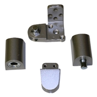 Door Controls OP14G-DUR US Aluminum Style Pivot Set - Right Hand (Dark Bronze Finish)