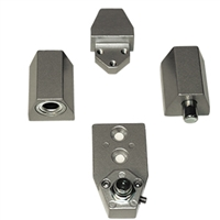 Door Controls OP09-AL VistaWall (Non Handed) Style Pivot Set (Aluminum Finish)
