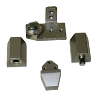 Door Controls OP10-ALR VistaWall Style Pivot Set RH (Aluminum Finish)