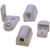 Door Controls OP14G-ALR US Aluminum Style Pivot Set - Right Hand (Aluminum Finish)
