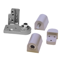 Door Controls OPKP-ALL Kawneer Style Pivot Set - Left Hand (Aluminum Finish)