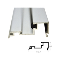 "US01-0418LLCL - 4ft. 1/4"" Glass Stop Gutter w/Vinyl (Snap-In) - CLEAR Aluminum - (Besam Pg3000, 4000, Amd1, Amd2, Uni-slide)."