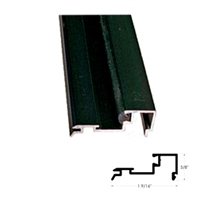 "US01-0418LLDB - 4ft. 1/4"" Glass Stop Gutter w/Vinyl (Snap-In) - DARK BRONZE Aluminum - (Besam Pg3000, 4000, Amd1, Amd2, Uni-slide)."