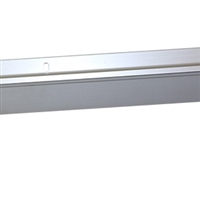 4 FT. TRIPLE VINYL DOOR SWEEP w/Hardware - (Clear Anodized)