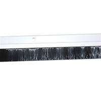 3 FT. NYLON BRUSH DOOR SWEEP w/Hardware - (Clear Anodized)