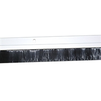 4 FT. NYLON BRUSH DOOR SWEEP w/Hardware - (Clear Anodized)