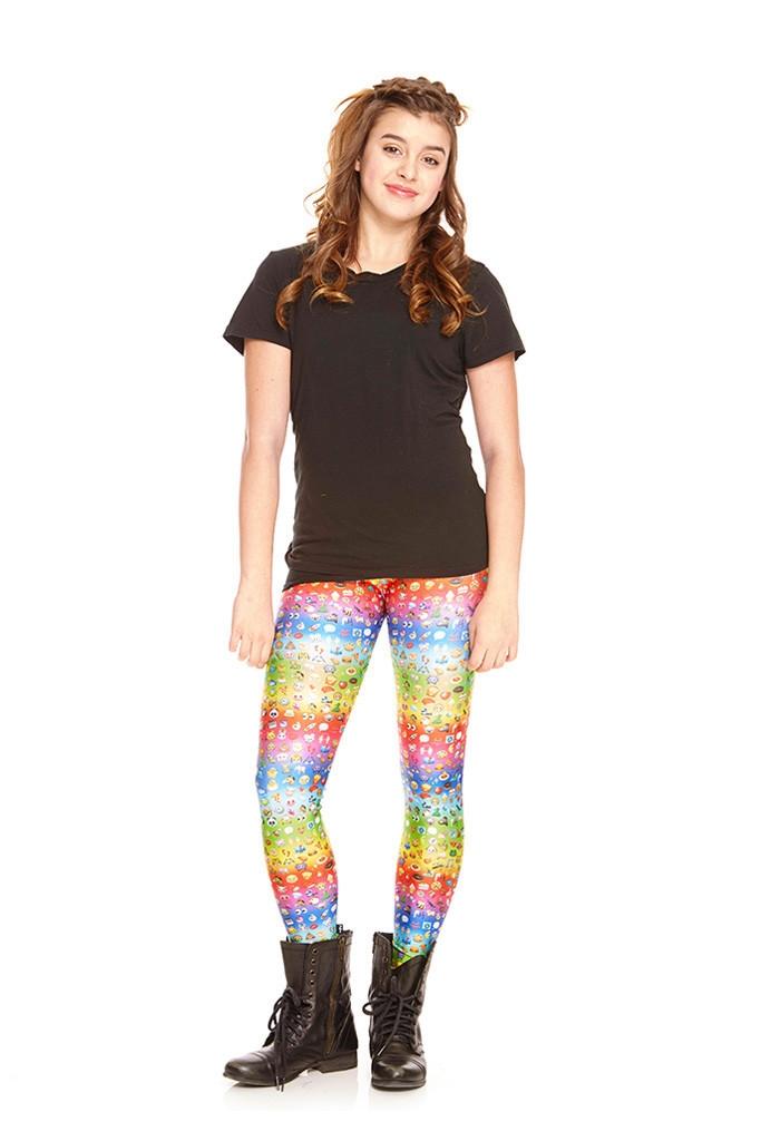 73deff4e5f Terez - Girls Emoji Rainbow Leggings Larger Photo ...