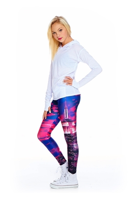 Terez - Girls Hot Pink Empire State Leggings