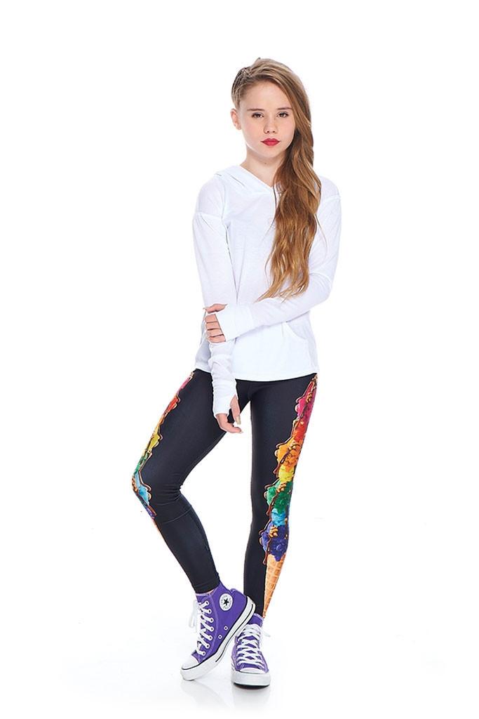 Terez - Girls Rainbow Cone Leggings