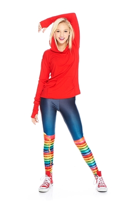 Terez - Girls Rainbow Pancakes Leggings