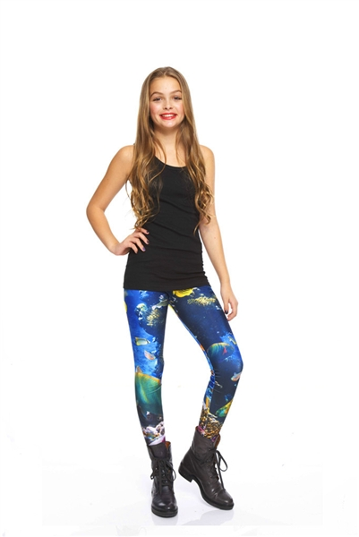 Terez - Girls Coral Reef Leggings