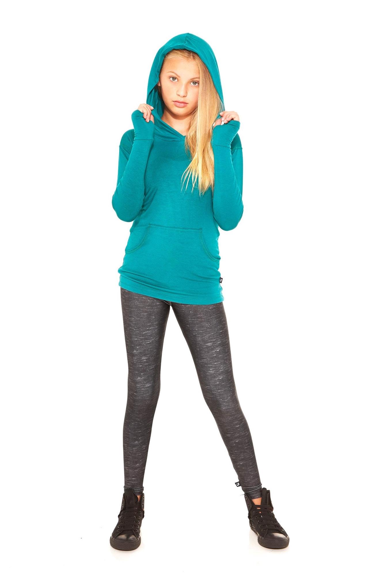 Terez - Girls Heathered Black Leggings-5574