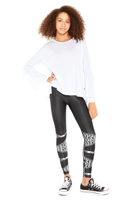 Terez - Girls Lacey Zips Leggings