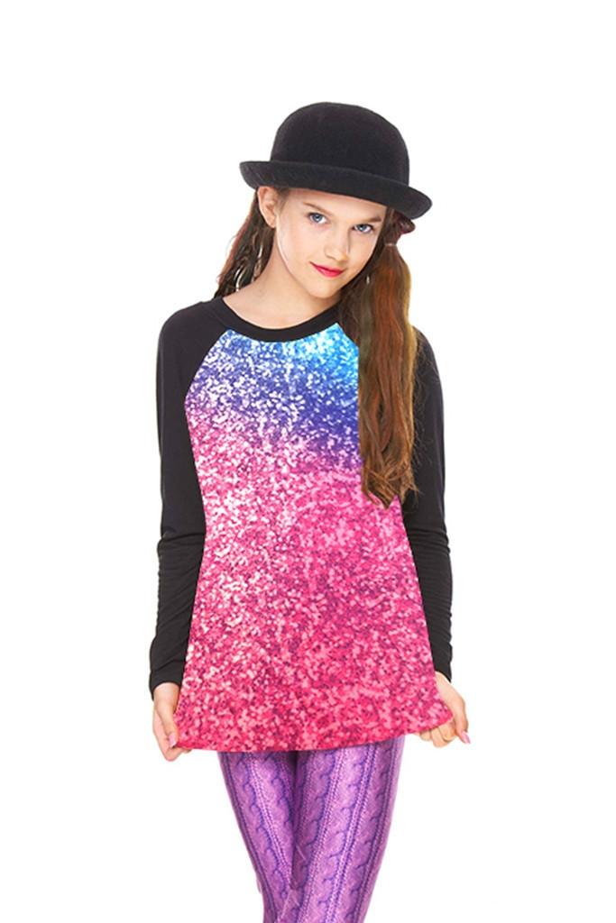 384b80171fbbb Girls Glitter Mirror Baseball T-ShirtZara Terez -