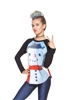 Terez Girls Build A Snowman Baseball T-Shirt