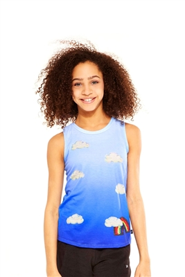 Terez - Girls Head In The Clouds Racerback Tank