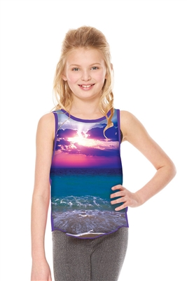 Terez - Girls Sunset Racerback Tank