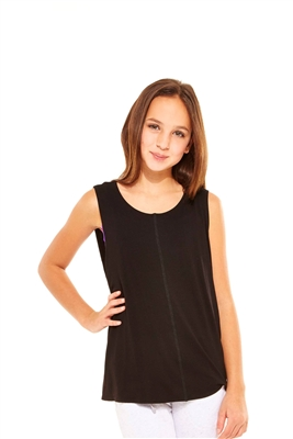 Terez - Girls Black Twist Back Tank