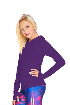 Terez Girls Purple Long Sleeve Hooded Top