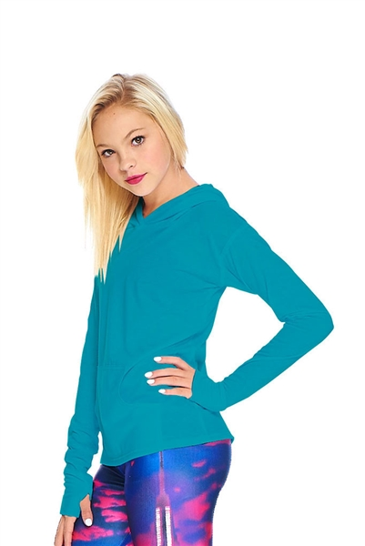 Terez Girls Jade Long Sleeve Hooded Top