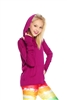 Terez Girls Magenta Long Sleeve Hooded Top