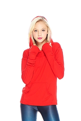 Terez - Girls Red Long Sleeve Hooded Top