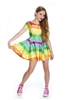 Terez Girls Rainbow Cake Cap Sleeve Skater Dress