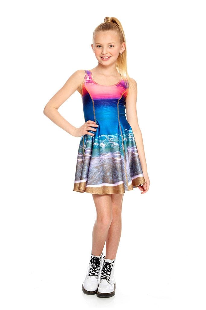 bdeb442e11d4 Terez - Girls Sunset Skater Dress Larger Photo ...