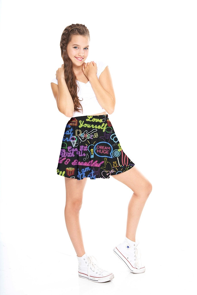 Do Girls Like Cute But Non Muscular Guys: Girls You Can Sit With Us Skater Skirt