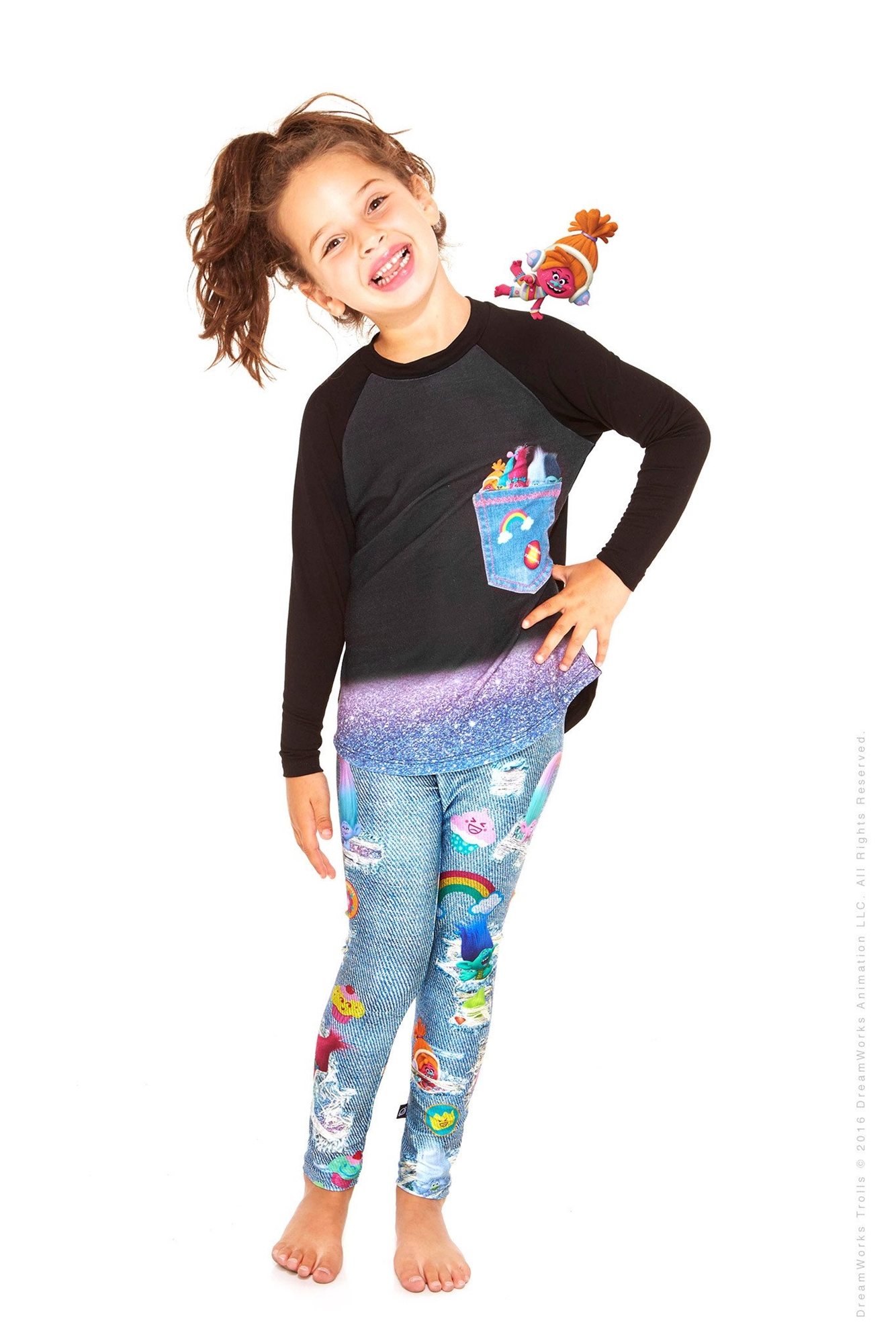 1d7791f0f Terez - Kids Trolls Denim Leggings