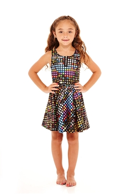 Terez Kids Emoji Zip Skater Dress