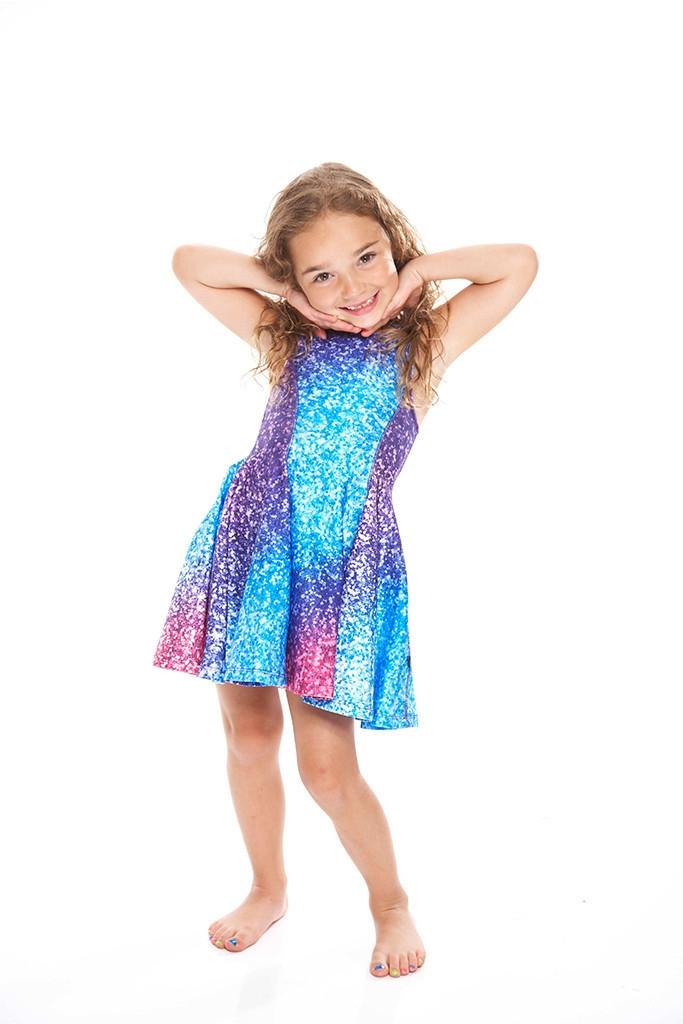 56b21f265ec07 Terez - Kids Glitter Mirror Skater Dress