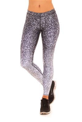 Terez - Black and White Glitter Leggings