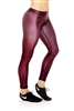 Terez Burgundy Croc  Leggings