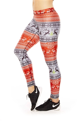 Terez Womens Fair Isle Performance Leggings