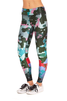 Terez Burn Sage Camo Tall Band Leggings