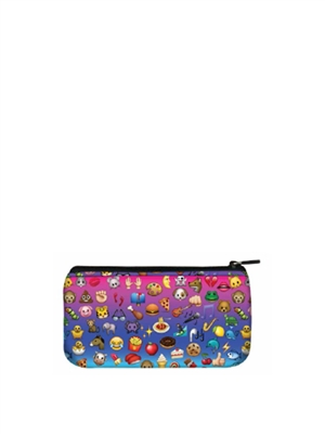 Terez Emoji Rainbow Small Pencil Case