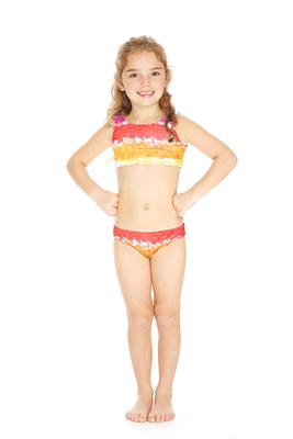 Terez Kids Rainbow Cake Sports Bra Bikini