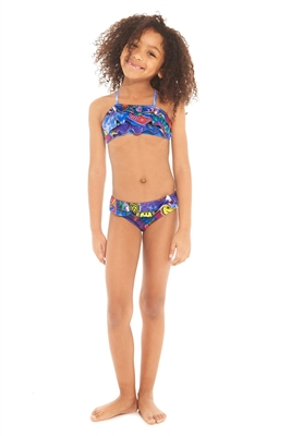 Terez Kids Tie Dye Patches Ruffle Bikini