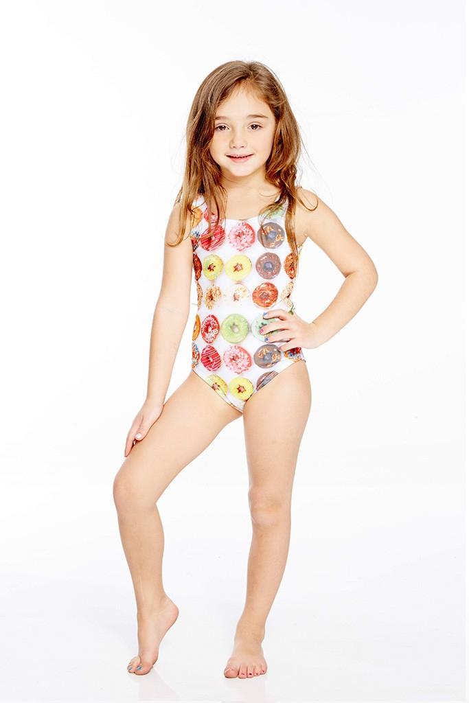 7665862024 Terez - Kids One Piece Donuts Speedo