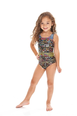 Terez Kids One Piece Emoji Speedo