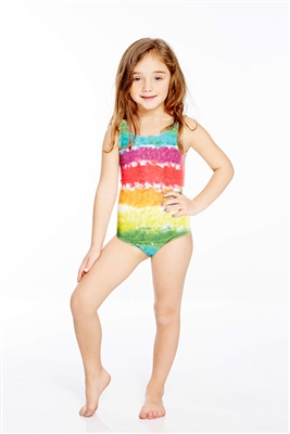 Terez Kids One Piece Rainbow Cake Speedo