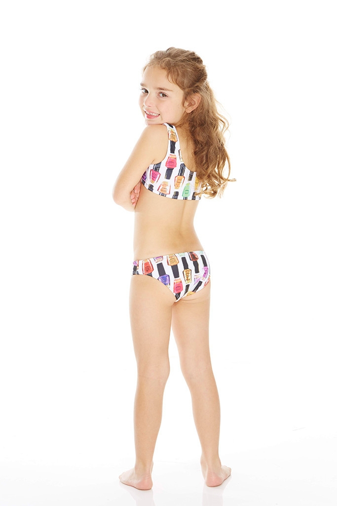 Terez - Kids Nail Polish Sports Bra Bikini
