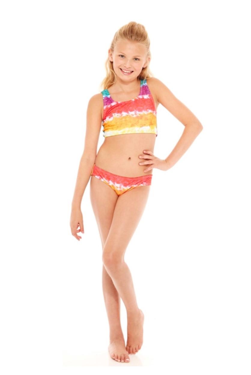 Terez - Girls Rainbow Cake Sports Bra Bikini-5202